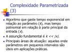 complexidade parametrizada 3