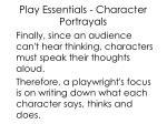 play essentials character portrayals