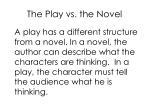 the play vs the novel