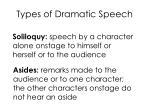 types of dramatic speech