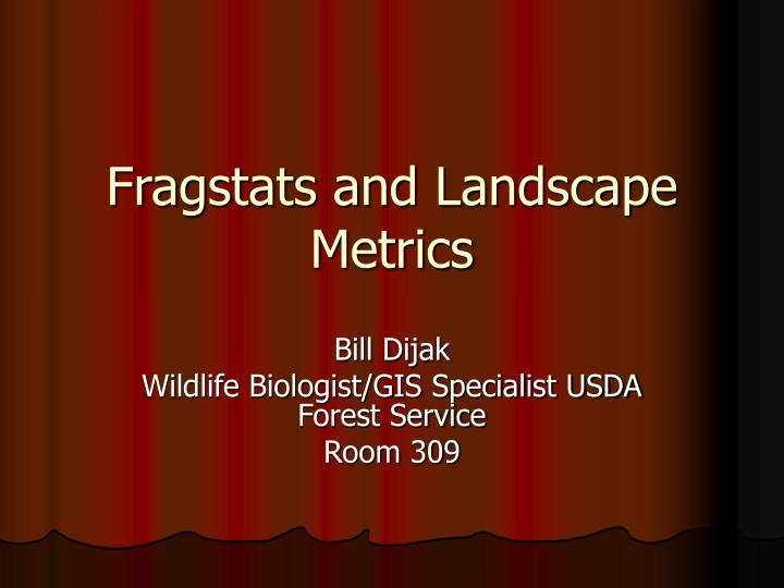 fragstats and landscape metrics n.