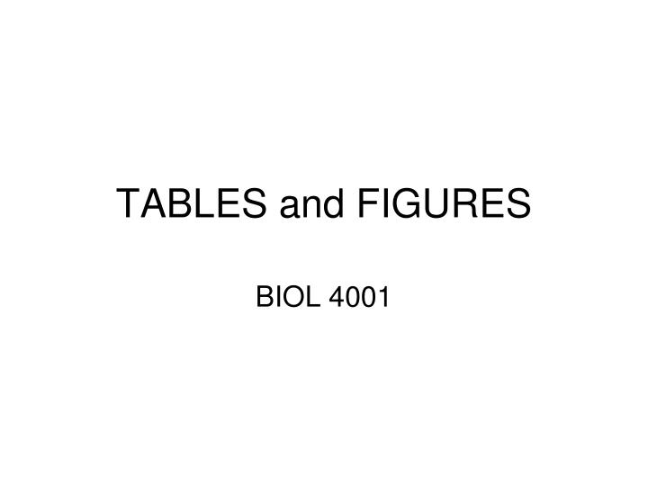 tables and figures n.