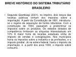 breve hist rico do sistema tribut rio brasileiro