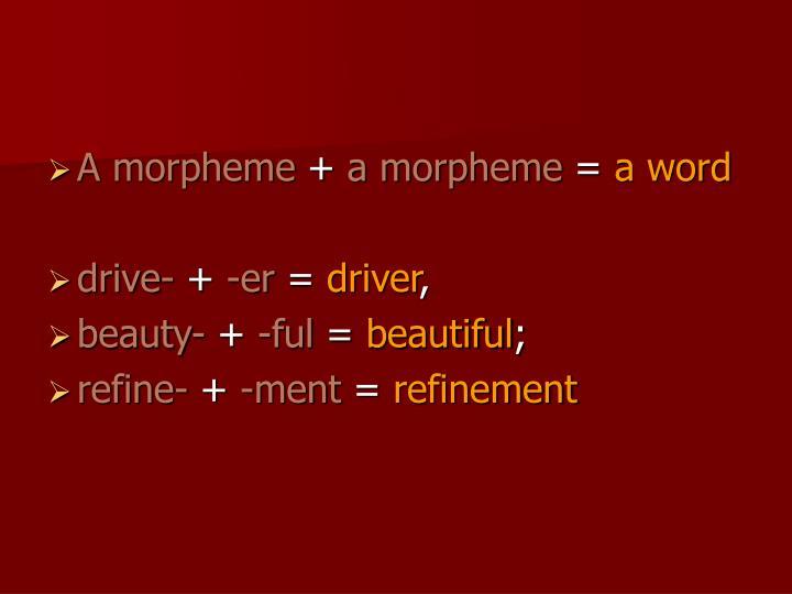 A morpheme