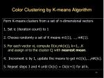 color clustering by k means algorithm