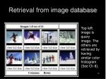 retrieval from image database