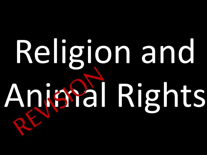 religion and animal rights n.