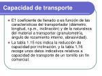 capacidad de transporte1