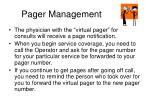pager management