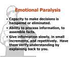 emotional paralysis