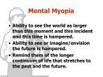 mental myopia