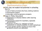conclusions and policy implementation gaps