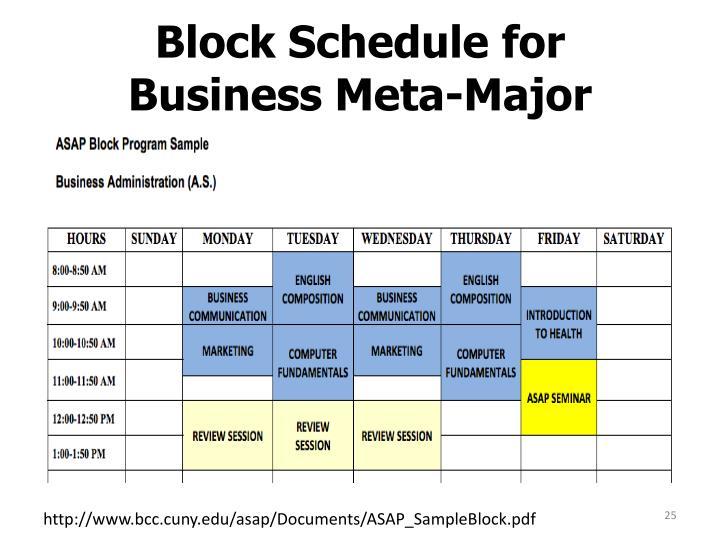 Block Schedule for