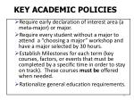 key academic policies