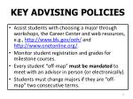 key advising policies
