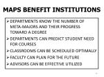 maps benefit institutions