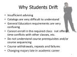 why students drift