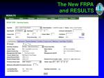 the new frpa and results