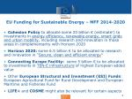 eu funding for sustainable energy mff 2014 2020