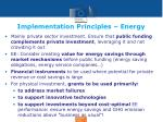implementation principles energy