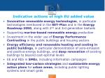 indicative actions of high eu added value