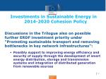 investments in sustainable energy in 2014 2020 cohesion policy2