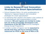 links to research and innovation strategies for smart specialisation