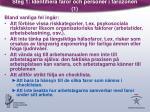 steg 1 identifiera faror och personer i farozonen 1