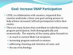 goal increase snap participation
