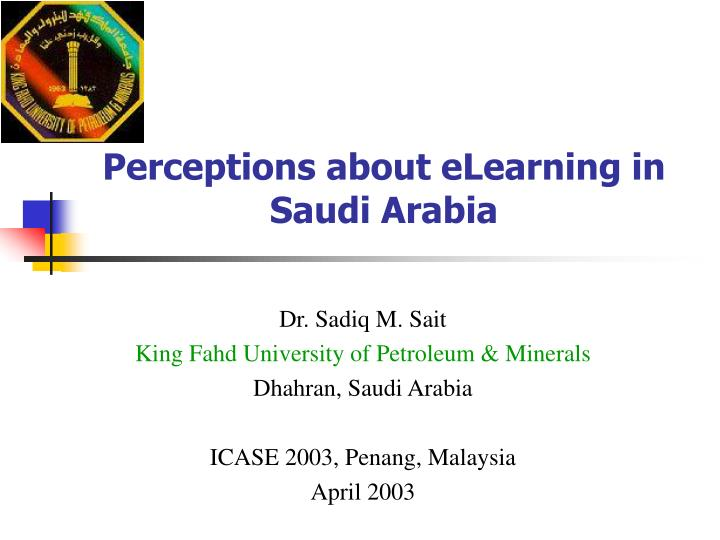 perceptions about elearning in saudi arabia n.