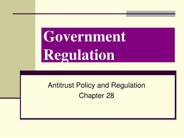 government regulation n.
