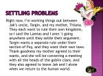 settling problems