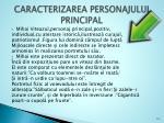 caracterizarea personajului principal