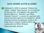 date despre autor i oper