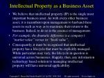 intellectual property as a business asset