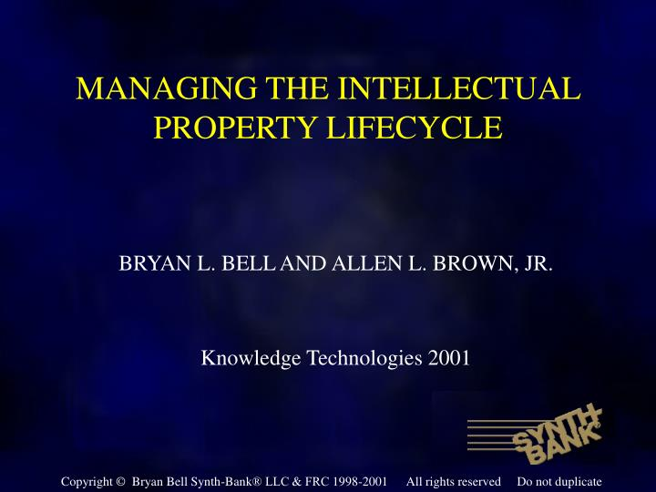 managing the intellectual property lifecycle n.