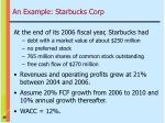 an example starbucks corp