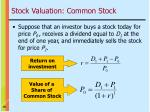 stock valuation common stock