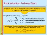stock valuation preferred stock