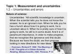 topic 1 measurement and uncertainties 1 2 uncertainties and errors1