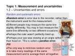 topic 1 measurement and uncertainties 1 2 uncertainties and errors11