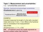 topic 1 measurement and uncertainties 1 2 uncertainties and errors16