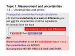 topic 1 measurement and uncertainties 1 2 uncertainties and errors20