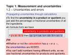 topic 1 measurement and uncertainties 1 2 uncertainties and errors22