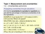 topic 1 measurement and uncertainties 1 2 uncertainties and errors23