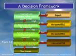 a decision framework