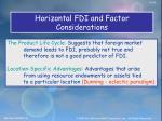 horizontal fdi and factor considerations1