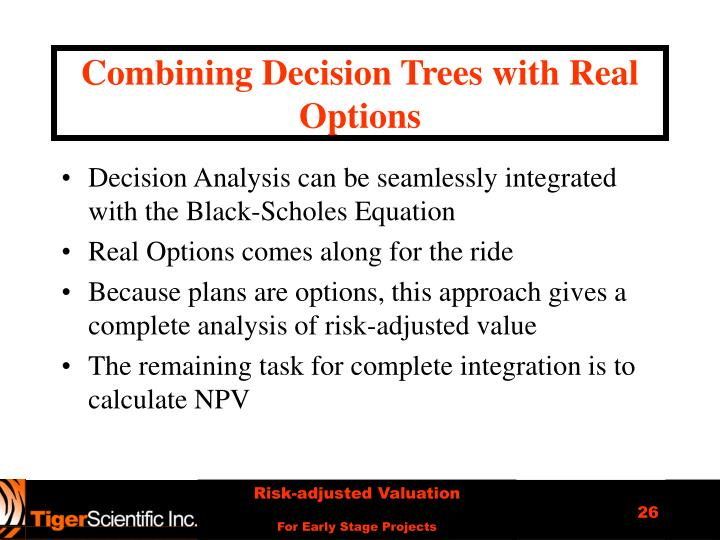 Combining Decision Trees with Real Options