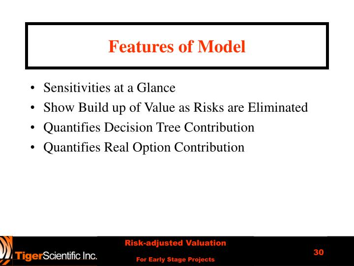 Features of Model