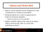 options and market risk
